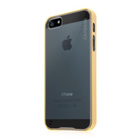 Силиконовый чехол CAPDASE Soft Jacket Fuze DS для Apple iPhone 5/5S / iPhone SE - желтый