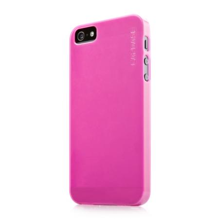 Силиконовый ультратонкий чехол CAPDASE Soft Jacket LAMINA для Apple iPhone 5/5S / iPhone SE - розовый