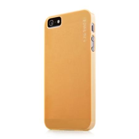Силиконовый ультратонкий чехол CAPDASE Soft Jacket LAMINA для Apple iPhone 5/5S / iPhone SE - желтый