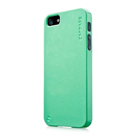 Силиконовый чехол с блестками CAPDASE Soft Jacket SPARKO для Apple iPhone 5/5S / iPhone SE - зеленый