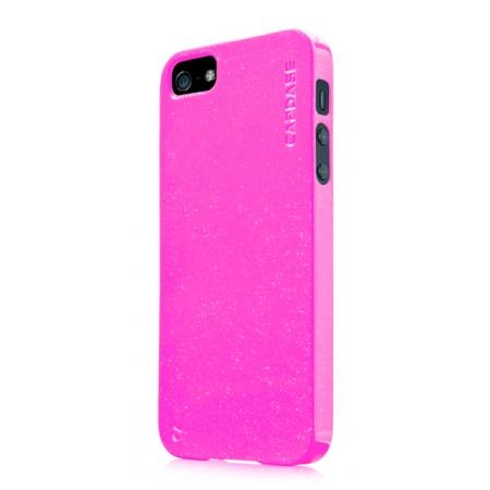 Силиконовый чехол с блестками CAPDASE Soft Jacket SPARKO для Apple iPhone 5/5S / iPhone SE - розовый