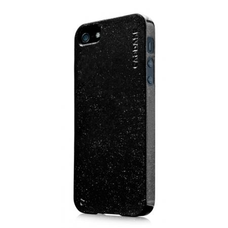 Силиконовый чехол с блестками CAPDASE Soft Jacket SPARKO для Apple iPhone 5/5S / iPhone SE - черный