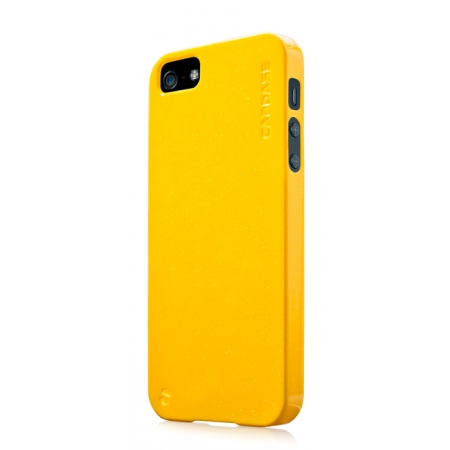 Силиконовый чехол с блестками CAPDASE Soft Jacket SPARKO для Apple iPhone 5/5S / iPhone SE - желтый