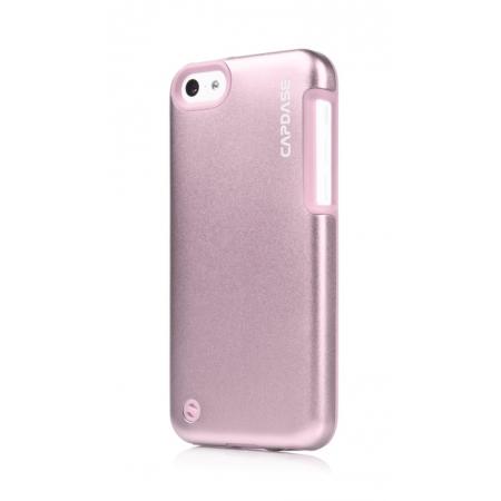 Металлический чехол Capdase Alumor Jacket Sider Elli для Apple iPhone 5C - розовый