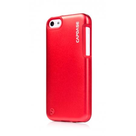 Металлический чехол Capdase Alumor Jacket Sider Elli для Apple iPhone 5C - красный