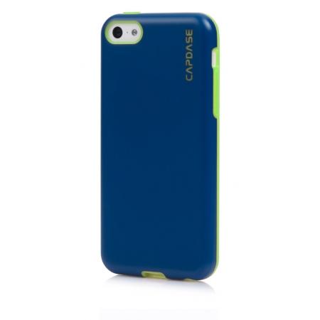 Силиконовый чехол Capdase SJ Vika для Apple iPhone 5C - синий с зеленым