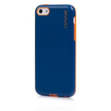Силиконовый чехол Capdase SJ Vika для Apple iPhone 5C - синий с оранжевым