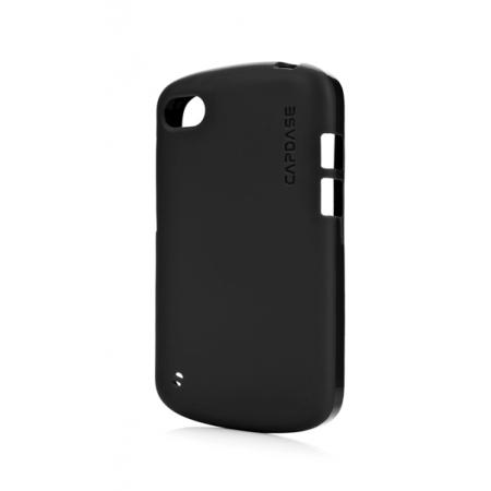 Силиконовый TPU чехол Capdase Soft Jacket для Blackberry Q10 - черный