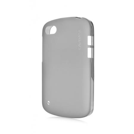 Силиконовый TPU чехол Capdase Soft Jacket для Blackberry Q10 - серый