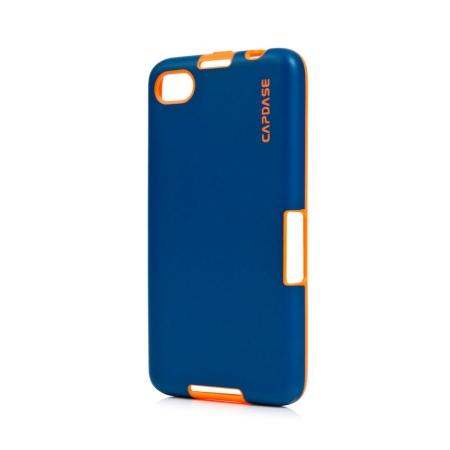 Силиконовый TPU чехол Capdase Soft Jacket Vika для Blackberry Z30 - сине-оранжевый