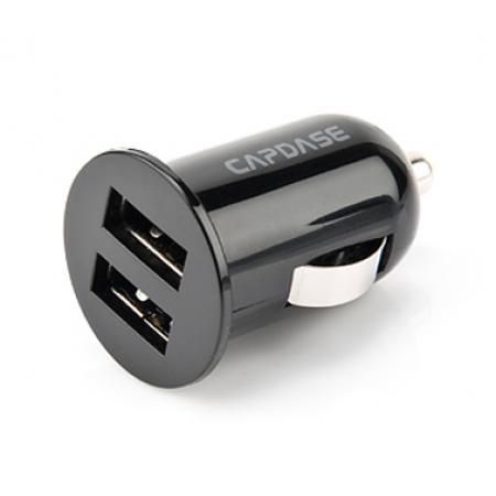Автомобильное зарядное устройство с двумя USB выходами CAPDASE Pico F2S для смартфонов и планшетов