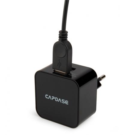 Сетевое зарядное устройство с кабелем Micro USB с 2-мя USB выходами - CAPDASE Cube K2