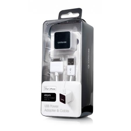 Сетевое зарядное устройство с кабелем для iPod, iPhone - CAPDASE USB Power Adapter & Cable Atom