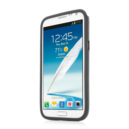 Металлический чехол CAPDASE Alumor Jacket для Samsung Galaxy Note 2 GT-N7100 - серый