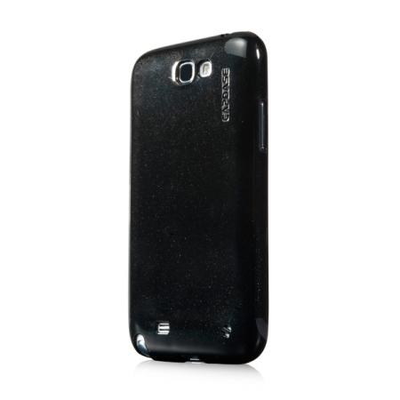 Силиконовый чехол с блёстками  CAPDASE SJ SPARKO для Samsung Galaxy Note 2 GT-N7100 - черный