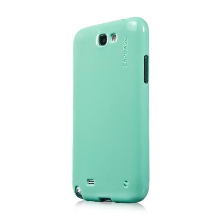 Силиконовый чехол с блёстками CAPDASE SJ SPARKO для Samsung Galaxy Note 2 GT-N7100 - зеленый