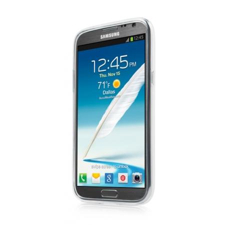 Силиконовый чехол CAPDASE Soft Jacket Xpose для Samsung Galaxy Note 2 GT-N7100 - белый
