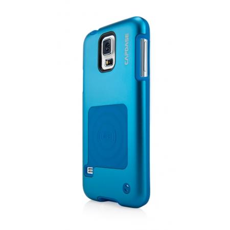 Металлический чехол CAPDASE Alumor Jacket для Samsung Galaxy S5 - синий