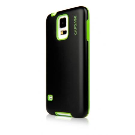 Силиконовый чехол Capdase Soft Jacket Vika для Samsung Galaxy S5 - черный с зеленым