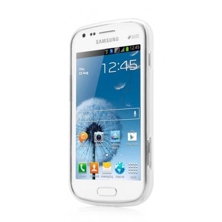 Силиконовый чехол CAPDASE Soft Jacket Xpose для Samsung Galaxy S Duos S7562 - белый