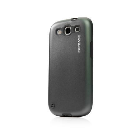 Металлический чехол CAPDASE Alumor Jacket для Samsung Galaxy SIII GT-I9300 - серый