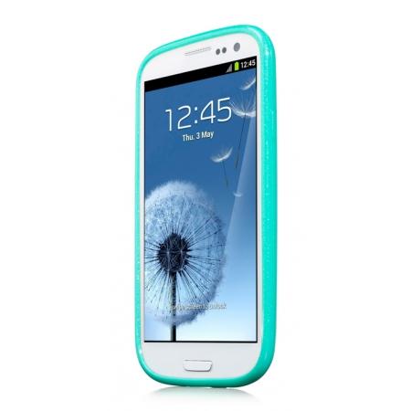 Силиконовый чехол CAPDASE Soft Jacket SPARKO для Samsung Galaxy SIII GT-I9300 - зелёный