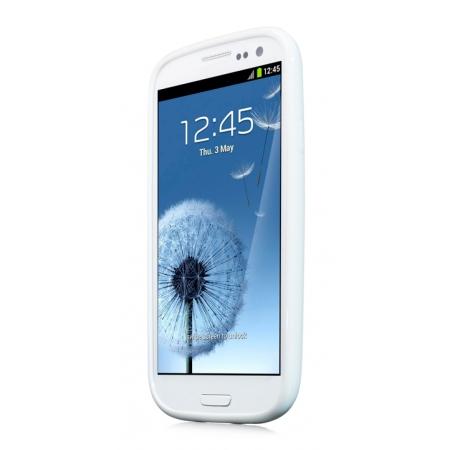 Силиконовый чехол CAPDASE Soft Jacket SPARKO для Samsung Galaxy SIII GT-I9300 - белый