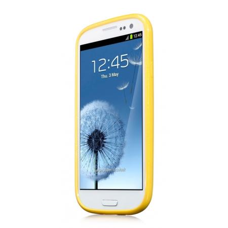 Силиконовый чехол CAPDASE Soft Jacket SPARKO для Samsung Galaxy SIII GT-I9300 - желтый
