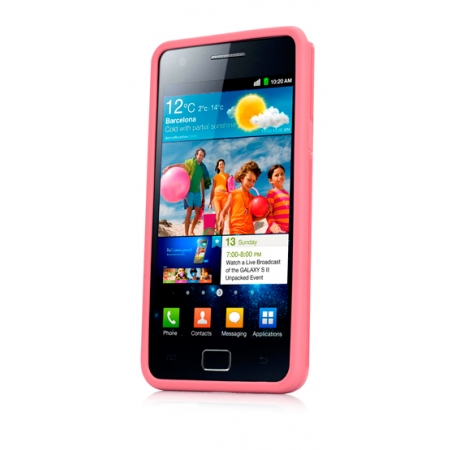 Чехол силикон + пластик Capdase Polimor Jacket для Samsung I9100 Galaxy S II / Galaxy S2 Plus GT-I9105  - розовый