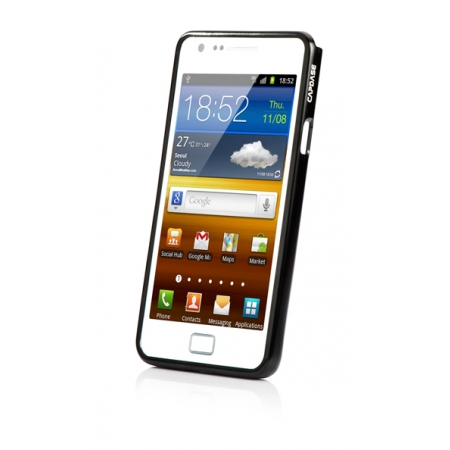 Металлический бампер Capdase Alumor Bumper для Samsung I9100 Galaxy S II / Galaxy S2 Plus GT-I9105 - чёрный