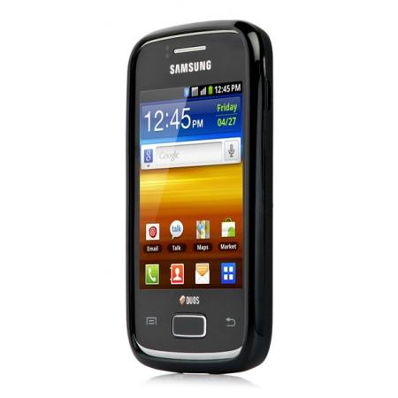 Силиконовый чехол Capdase Soft Jacket для Samsung Galaxy Y Duos S6102 - чёрный