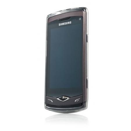 Силиконовый чехол CAPDASE Soft Jacket 2 Xpose для Samsung Wave S 8500 темно - серый