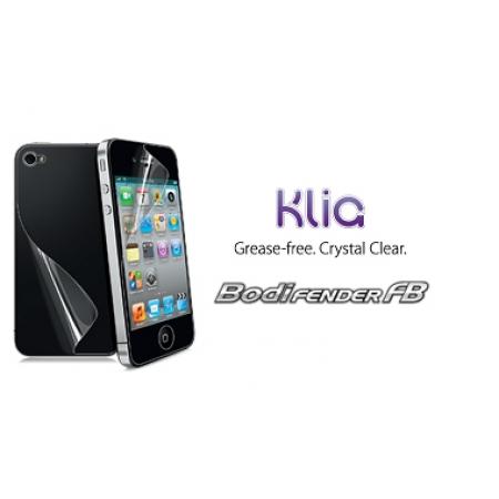 Износостойкая глянцевая защитная плёнка на заднюю часть CAPDASE BODIFENDER FB KLIA для Apple iPhone 4 / 4S