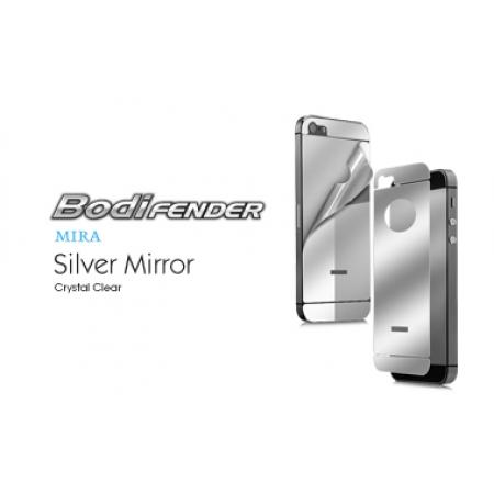 Зеркальная защитная пленка CAPDASE Mira Silver на заднюю часть с серебристой тонировкой для Apple iPhone 5/5S / iPhone SE