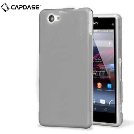 Силиконовый чехол Capdase Soft Jacket Xpose для Sony Xperia Z1 Compact M51w / Z1 Mini D5503 - прозрачный серый