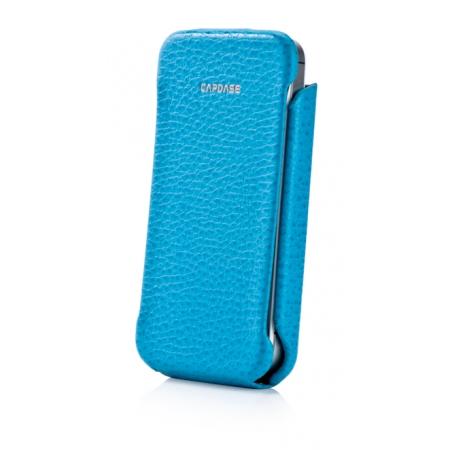 Кожаный чехол CAPDASE Capparel Case для APPLE iPhone 4 / 4S ROYAL - голубой