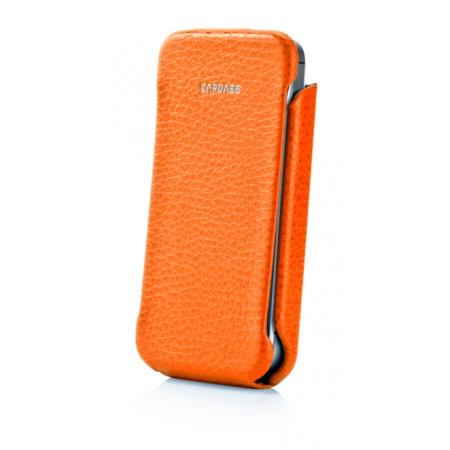 Кожаный чехол CAPDASE Capparel Case для APPLE iPhone 4 / 4S ROYAL - оранжевый