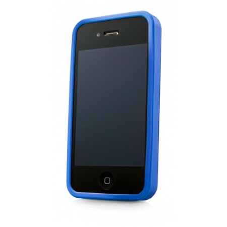 Металлический чехол CAPDASE Alumor Jacket для Apple iPhone 4/4S - голубой