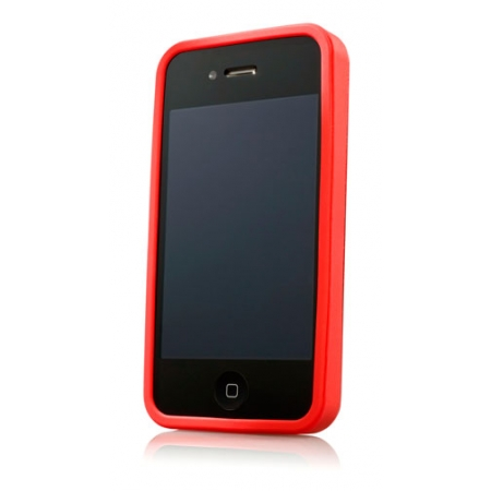 Металлический чехол CAPDASE Alumor Jacket для APPLE iPhone 4/4S - красный