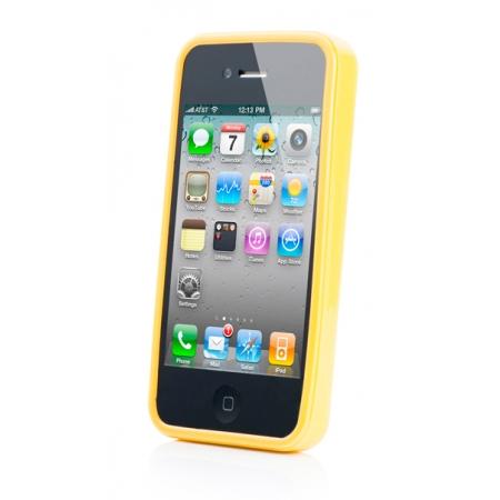 Силиконовый чехол CAPDASE Soft Jacket SPARKO для Apple iPhone 4 / 4S - желтый