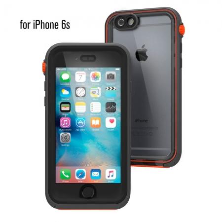 """Водонепроницаемый противоударный чехол Catalyst для iPhone 6/6S (4.7"""") - серо-оранжевый"""