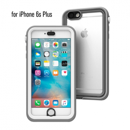 """Водонепроницаемый противоударный чехол Catalyst для iPhone 6/6S Plus (5.5"""") серо-белый"""