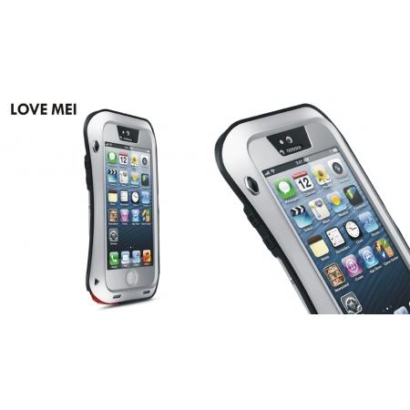 Противоударный, влагозащищенный чехол LOVE MEI POWERFUL small waist для Apple iPhone 5/5S / iPhone SE - серебристый