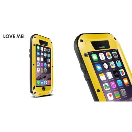 "Противоударный, влагозащищенный чехол LOVE MEI POWERFUL для Apple iPhone 6/6S (4.7"") - желтый"