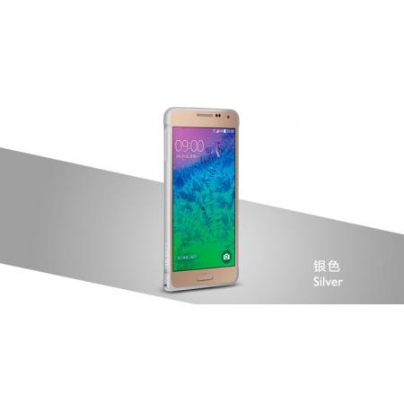 Металлический бампер Love Mei Curved Metal Bumper для Samsung Galaxy Alpha SM-G850E - серебристый
