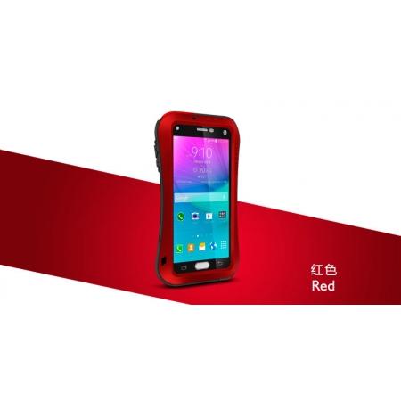 Противоударный, влагозащищенный чехол LOVE MEI POWERFUL small waist для Samsung Galaxy Note 4 - красный