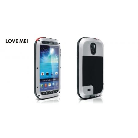 Противоударный, влагозащищенный чехол LOVE MEI POWERFUL для Samsung Galaxy S4 GT-I9500 - серебристый