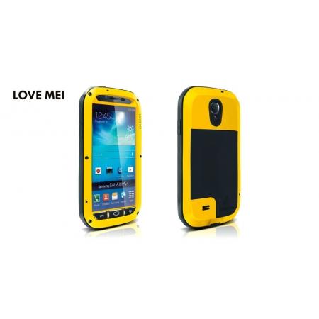 Противоударный, влагозащищенный чехол LOVE MEI POWERFUL для Samsung Galaxy S4 GT-I9500 - желтый