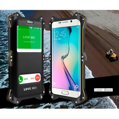 Противоударный, влагозащищенный чехол LOVE MEI MK2 для Samsung Galaxy S6 - черный