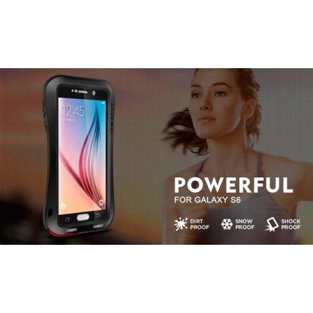 Противоударный, влагозащищенный чехол LOVE MEI POWERFUL Small Waist для Samsung Galaxy S6 - черный